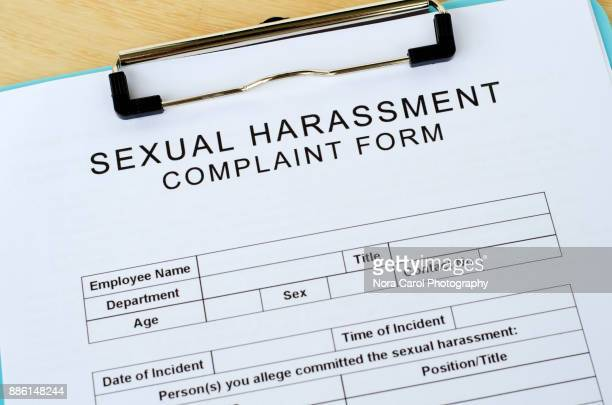 Blank Sexual Harassment Complain Form