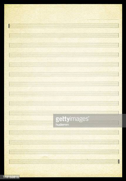 blank sheet music paper textured background - lined paper stock photos and pictures