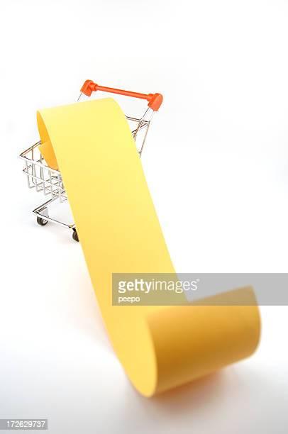 blank shopping list in cart