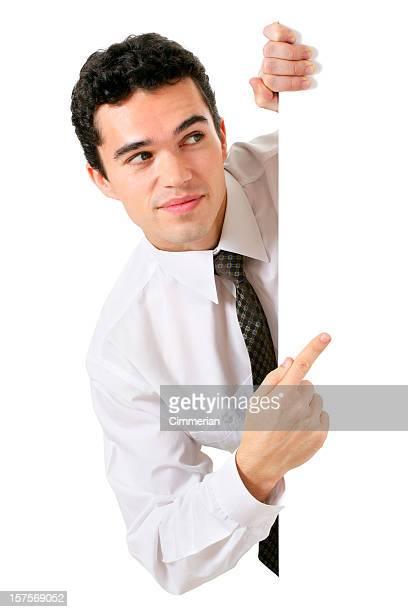 Blank sign - businessman