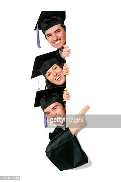 Blank sign - Graduates (on white)