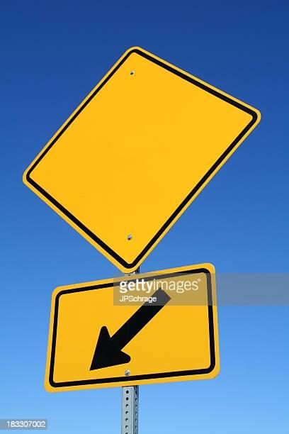 Blank Sign with Arrow