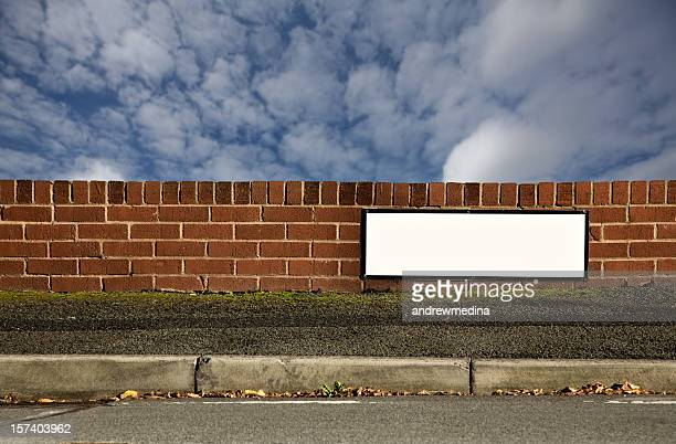 blank sign with space for name of your street.-more below - curb stock pictures, royalty-free photos & images