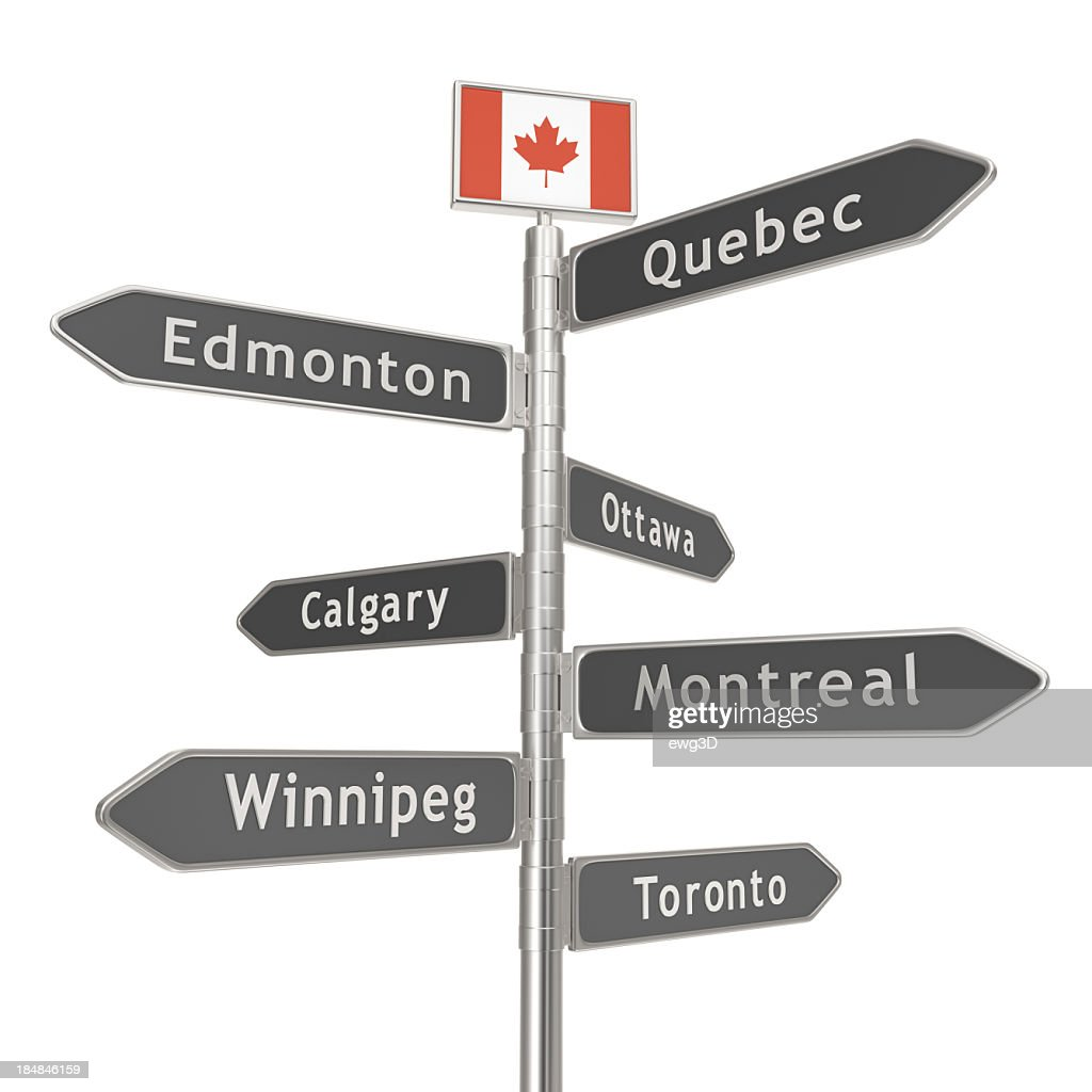 blank-signpost-canada-cities-picture-id1