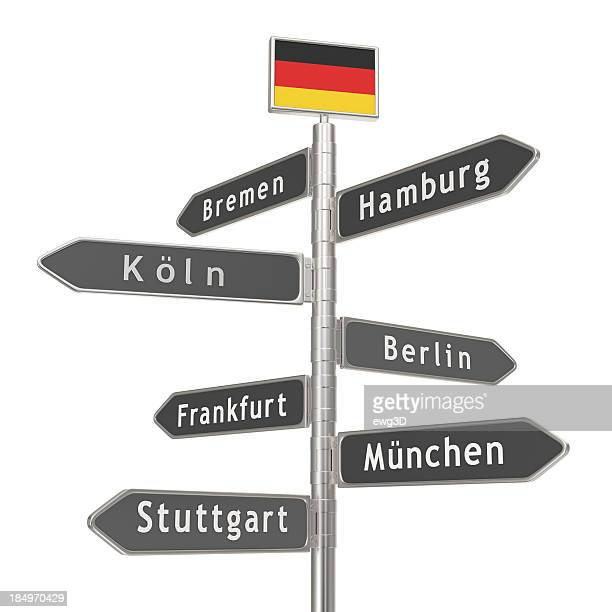 blank signpost - germany cities - stuttgart stock pictures, royalty-free photos & images