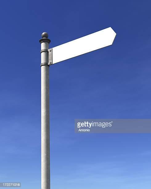 em branco seta - placa de estrada - fotografias e filmes do acervo