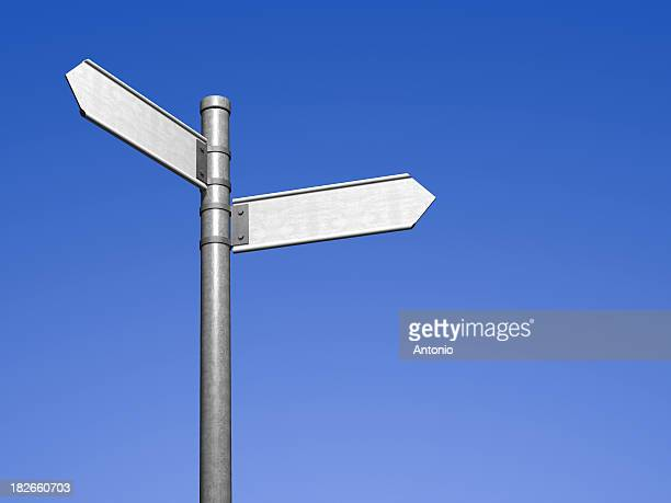 blank signpost - two objects stock photos and pictures