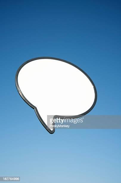 Vide Bulle de dialogue ciel bleu