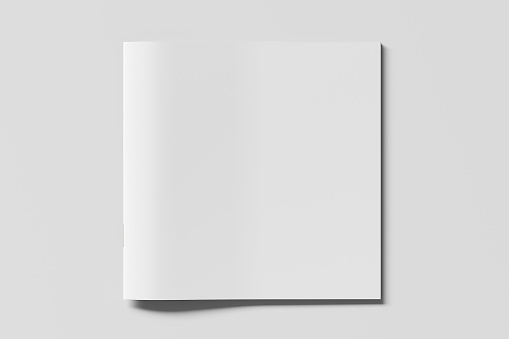 Blank square brochure or booklet cover 1196758332