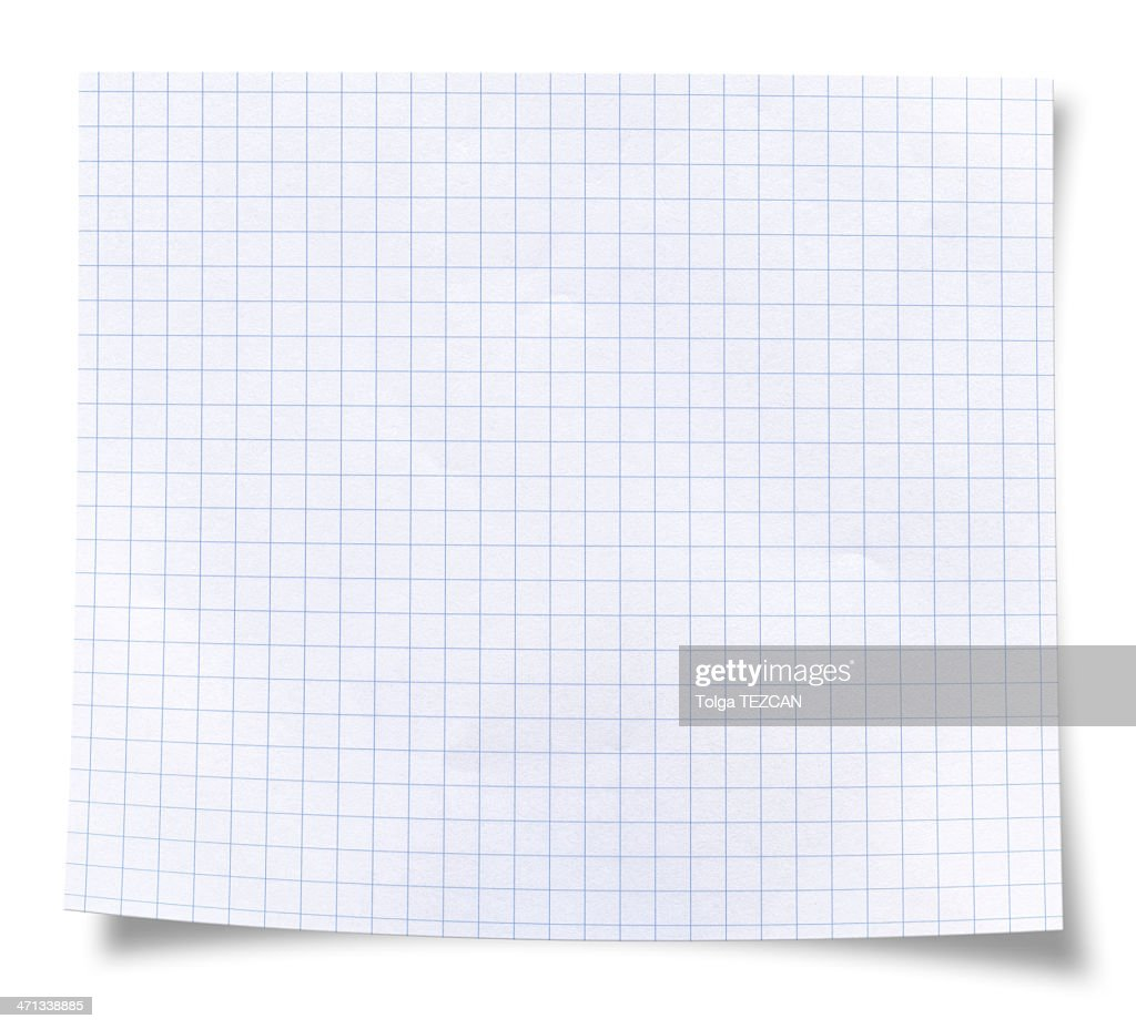 Blank square rules lined paper : Stock Photo