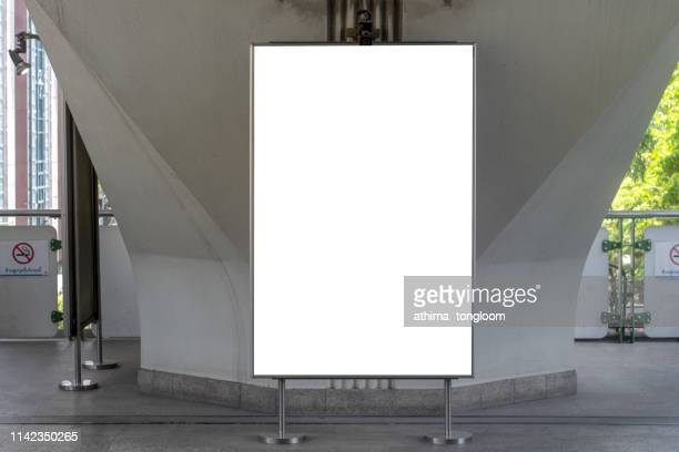 blank street billboard at night city. - template stock pictures, royalty-free photos & images