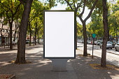 Blank street billboard poster stand