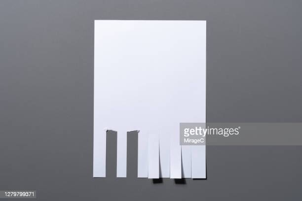blank striped a4 paper flyer poster for tearing - lost stock pictures, royalty-free photos & images