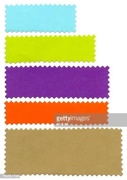 Strisce di carta colorata vuota