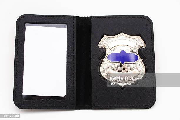 Blank template of a police badge on a white background