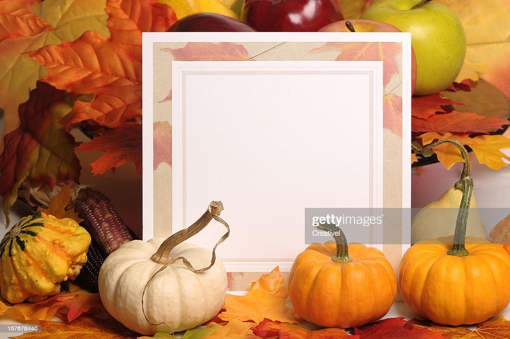 Blank Thanksgiving Card Stock Photo