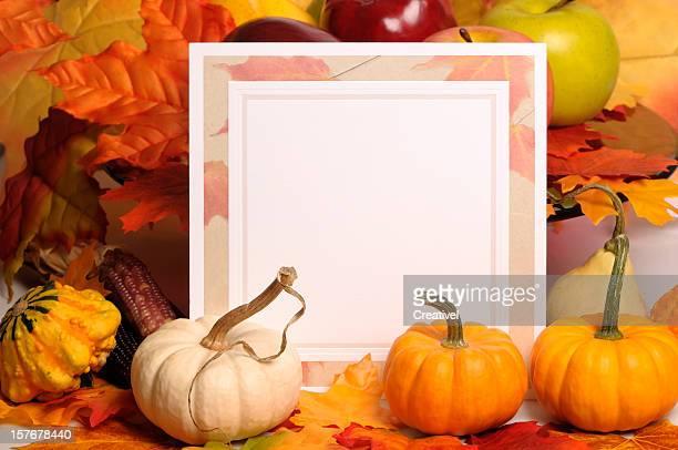 Blank Thanksgiving card
