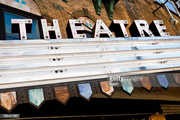 Blank theater marquee