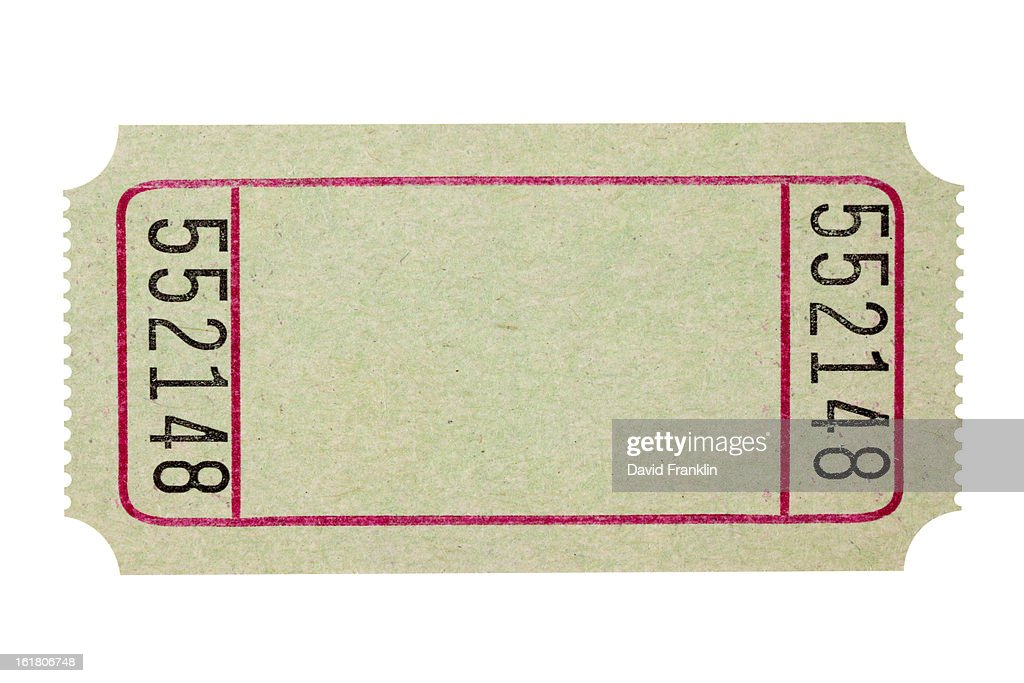 blank theater or movie ticket stock photo getty images