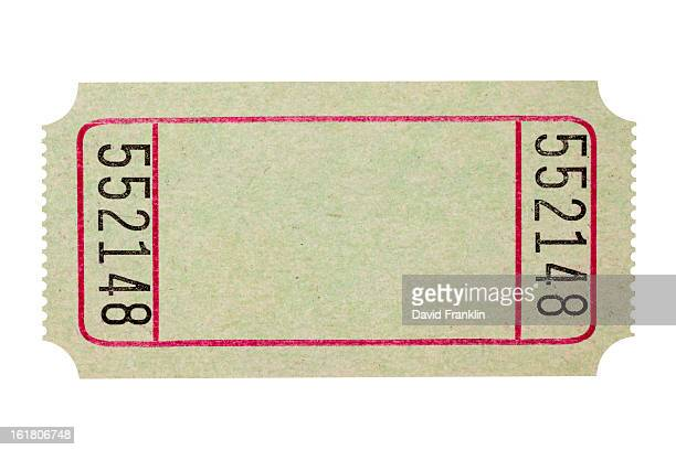 Blank theater or movie ticket