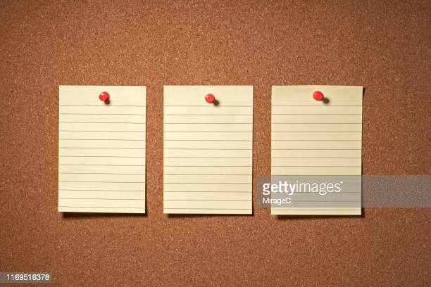 blank to do list note on cork board - bulletin board stock pictures, royalty-free photos & images
