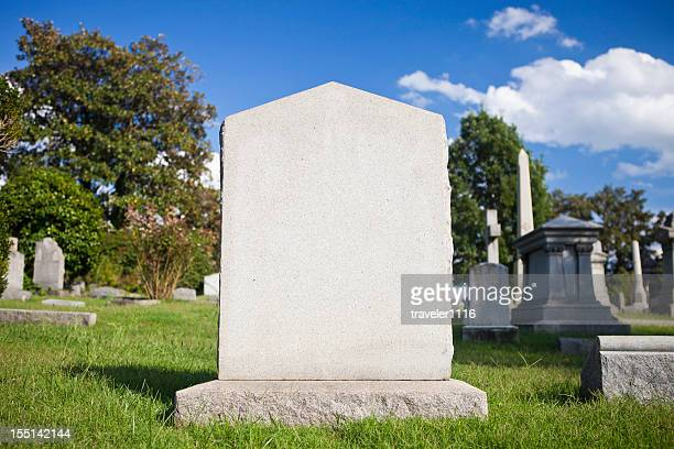 blank tombstone - cemetery stock pictures, royalty-free photos & images