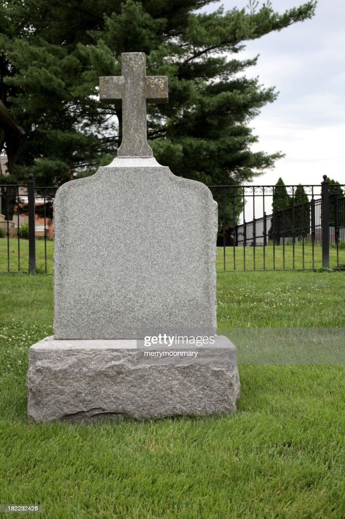 Blank Tombstone Stock Photo | Getty Images
