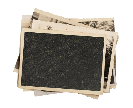 Blank vintage photo paper isolated 505491324