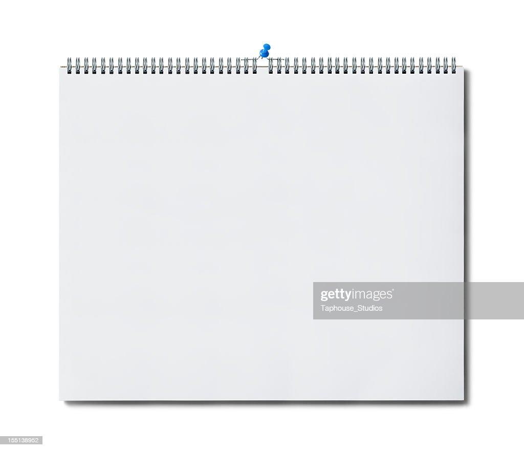 Blank wall calendar page : Stock Photo
