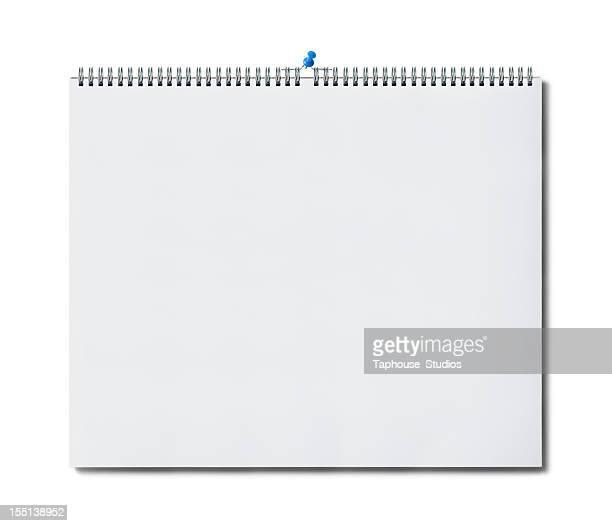 Blank wall calendar page