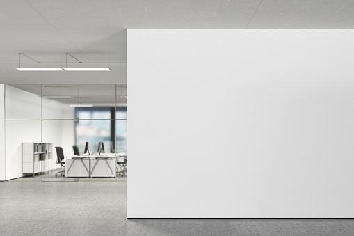 Blank wall in modern office 808969678