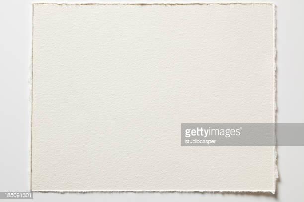 高解像度の空白の水彩画紙