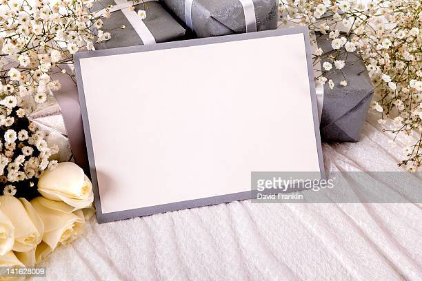 blank wedding invitation - wedding invitation stock pictures, royalty-free photos & images