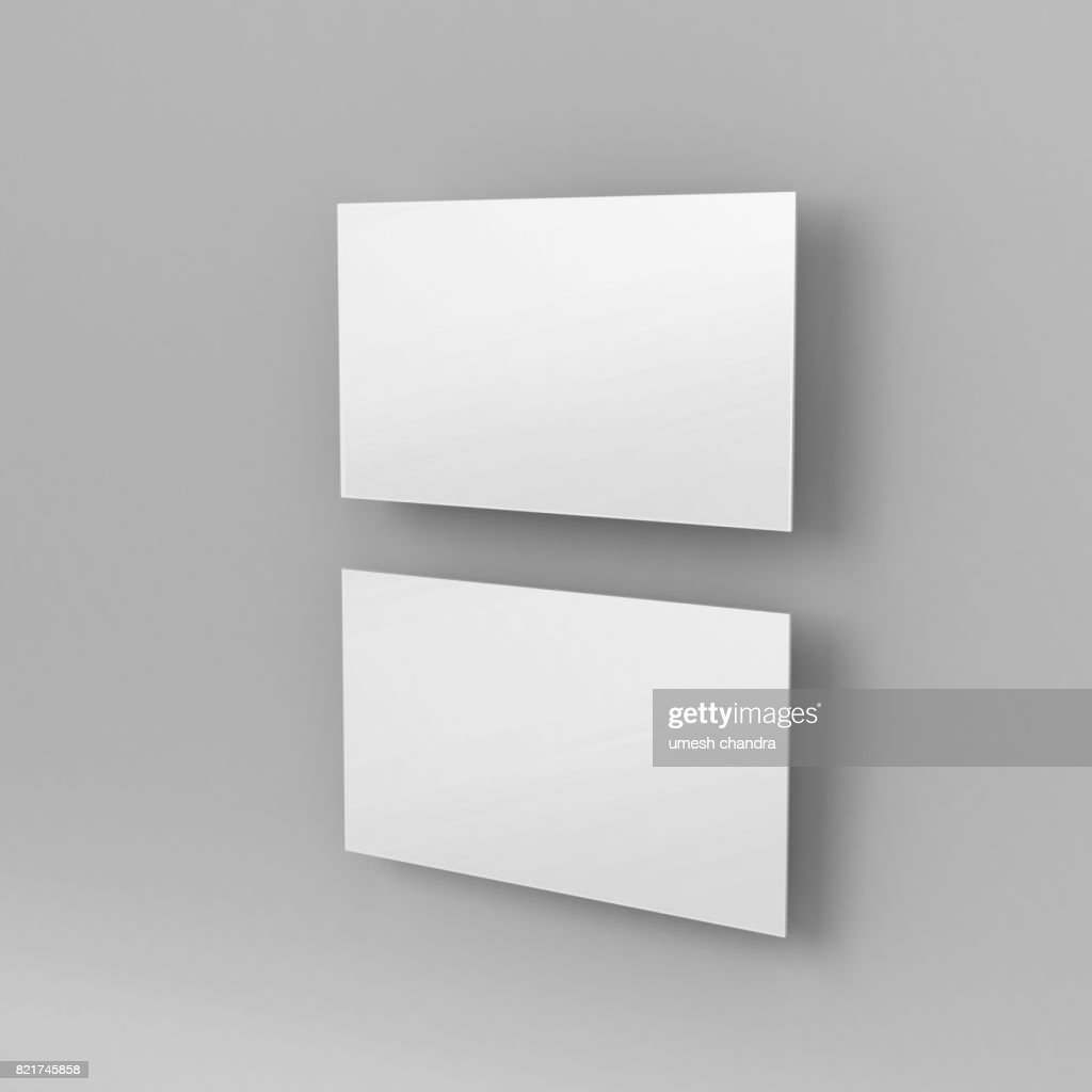 Blank white 3d visiting card and business card template 3d render blank white 3d visiting card and business card template 3d render illustration for mock up and design presentation cheaphphosting Images