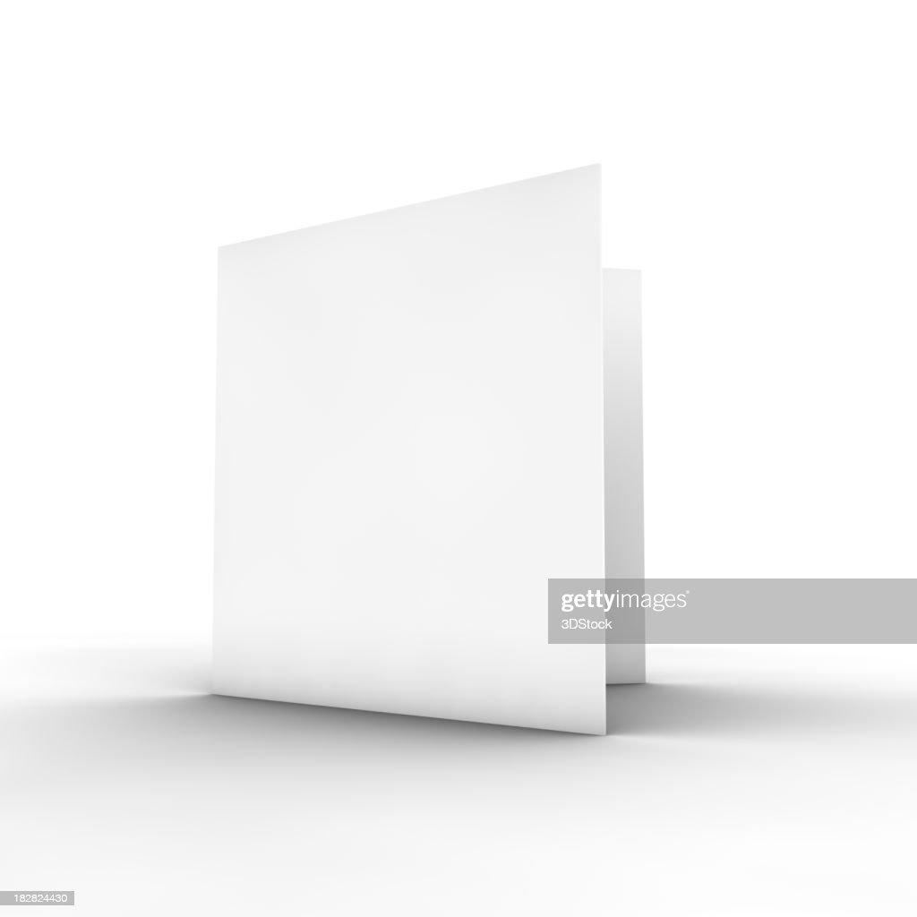 Leere bifold-Broschüre : Stock-Foto