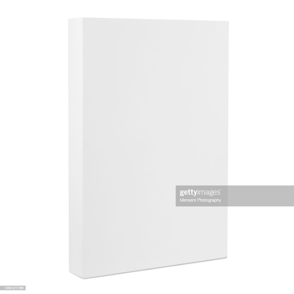 Blank white Box Template isolated over white background : Stock Photo
