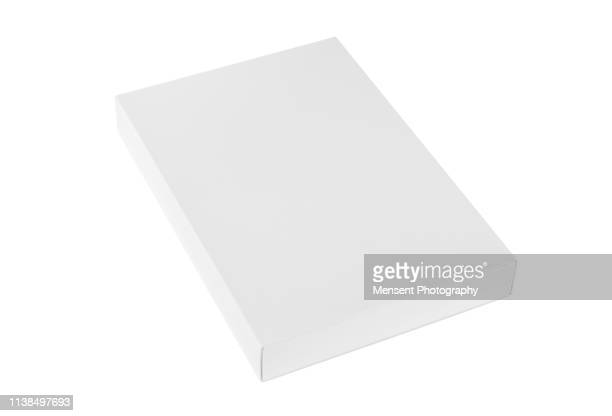 Blank white Box Template isolated over white background