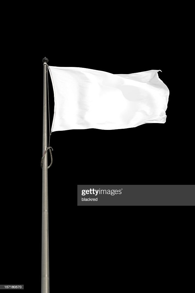 Blank White Flag : Stock Photo