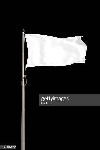 Leere weiße Flagge