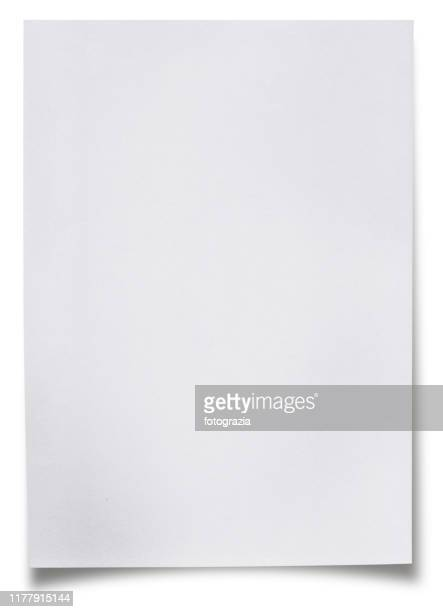 blank white paper sheet - leer stock-fotos und bilder