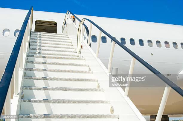 Blank white passenger plane