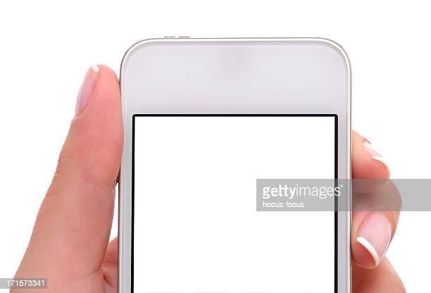 Leere weiße Bildschirm Smartphone