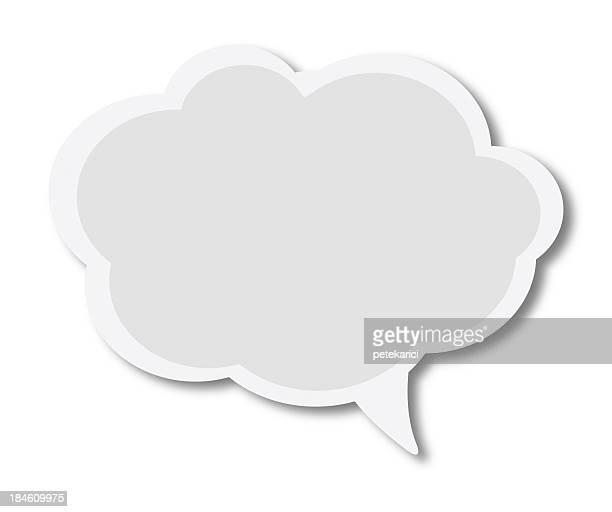 Blanco discurso burbujas en blanco