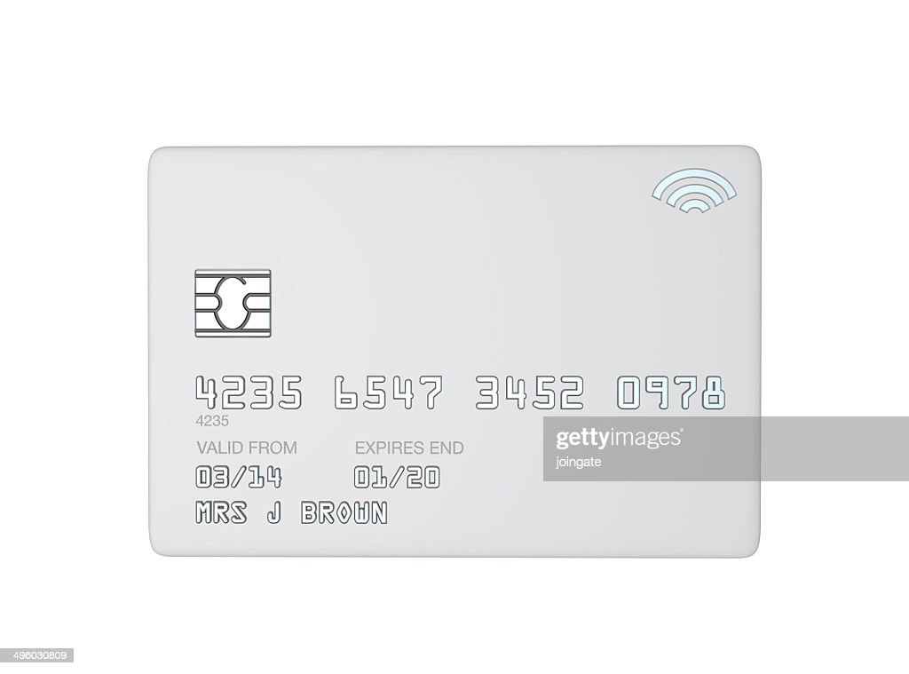 blank white template for a white credit card highres