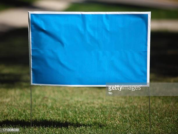 blank yard sign - election stock pictures, royalty-free photos & images