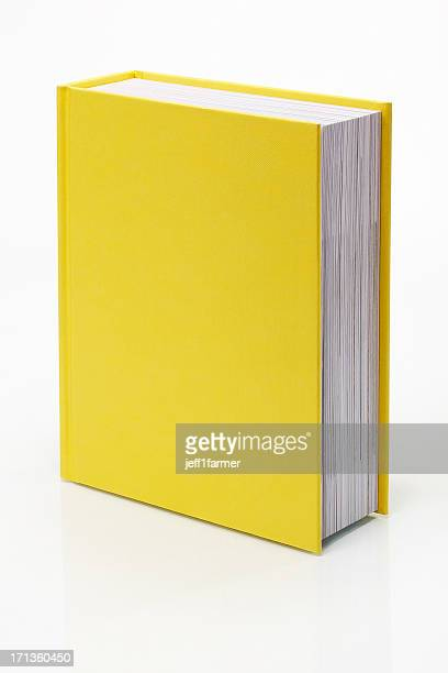 blank yellow book - boek stockfoto's en -beelden