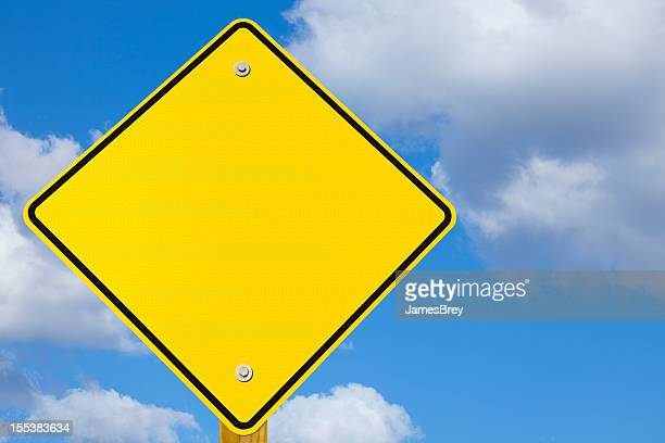 blank yellow road warning yield sign - give way stock pictures, royalty-free photos & images
