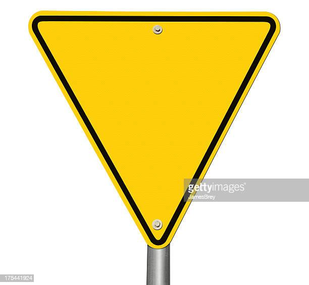 Blank Yield Sign Isolated on White
