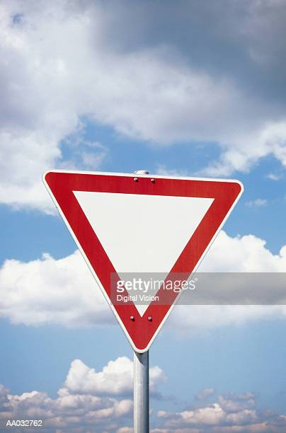 Blank Yield Sign