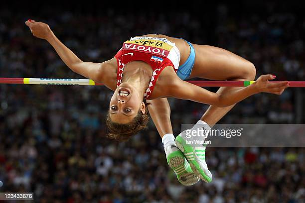 Blanka Vlasic of Croatia competes in the women's high jump final during day eight of the 13th IAAF World Athletics Championships at the Daegu Stadium...